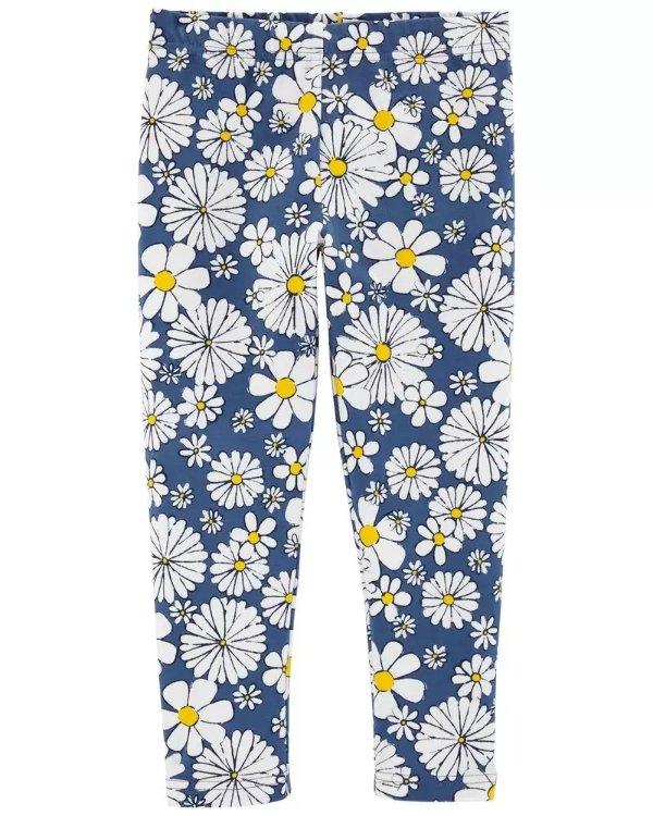 儿童雏菊7分裤