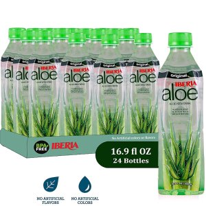 $21.99+Free ShippingIberia Aloe Vera Juice Drink , Original, 16.9 Fl Oz (Pack of 24)