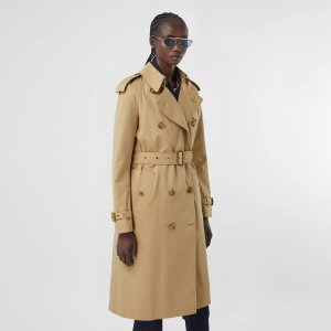 BurberryArchive Scarf Print-lined Trench Coat