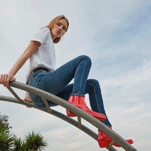 白菜价$24 黄金码有货 多色选Calvin Klein 高腰紧身牛仔裤 肯豆的选择