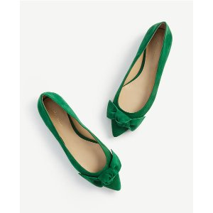 Ann Taylor蝴蝶结平底鞋