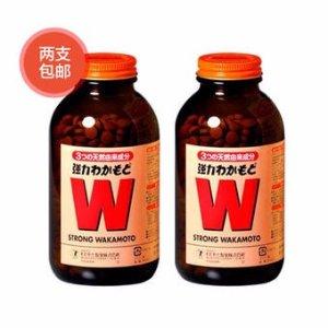 免费直邮中国约¥170/瓶小S推荐  wakamoto健胃清肠通秘W强力活性酵素 1000片 *2