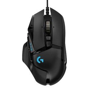 $44.99 (原价$79.99)Logitech G502 HERO RGB 游戏鼠标 价格小幅下调