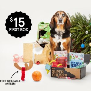 50% off First BoxLast Day: with 6 and 12 month plans @ Superchewer by barkbox