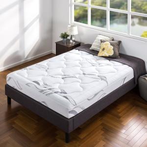$131.75包邮(原价$286.23)史低价:Zinus 8寸 高品质记忆棉床垫 Twin size