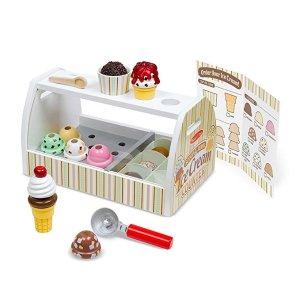 Melissa & Doug 木质冰淇淋柜台玩具套装