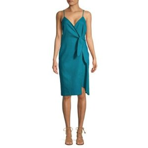 BCBGenerationStrappy Sheath Wrap Dress