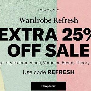 低至2.2折 早秋衣橱必备限今天:Shopbop 折上折专场 收Vince、Theory、By Far等