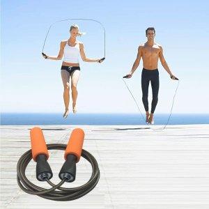 $6.99(原价$11)YZLSPORTS 专业可调节钢丝跳绳 高效燃脂瘦身利器 送收纳袋