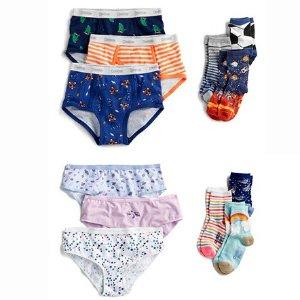 袜子$1.2/双 内裤$1.6/件 包邮OshKosh BGosh 儿童内衣、袜子等服饰5折+额外8折+2倍积分