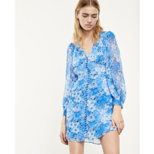 The KooplesBlue short printed dress with buttons