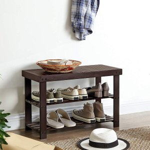 低至6.5折 竹制3层鞋架仅$27.29SONGMICS 鞋架和家居收纳架等一日热卖
