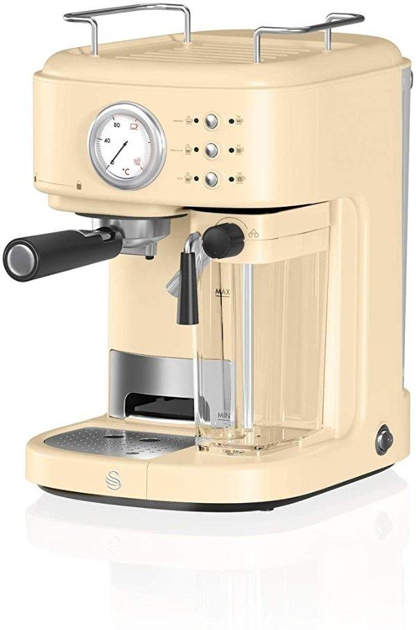 Swan 复古一键式浓缩咖啡机