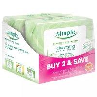Simple 卸妆湿巾 - 2x25ct