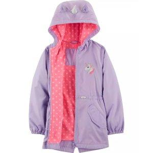 Carter'sUnicorn Fleece-Lined RaincoatUnicorn Fleece-Lined Raincoat
