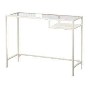VITTSJÖ Laptop table - white/glass  - IKEA
