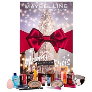 8折+送限量化妆包+送腮红圣诞日历:Maybelline 美宝莲 24天倒计时美妆日历