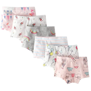 $22.99起 一条不到$4CHUNG 女宝宝梦幻元素内裤6条装 舒适又好看