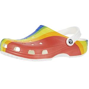 Crocs 彩虹洞洞鞋热卖 散步、玩水必备单品 限黄金码