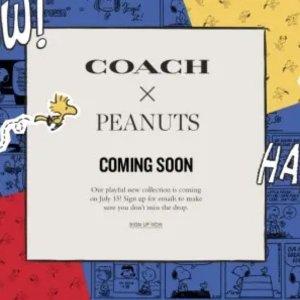 上新不错过 更有清仓2折新品预告:Coach x Peanuts 史努比即将登场 携手掀翻这个夏天