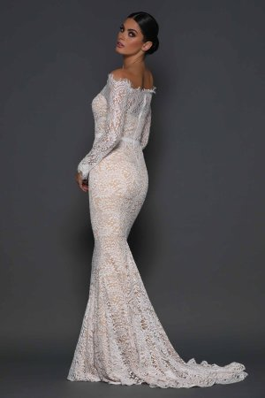 Serine White Gown by Elle Zeitoune