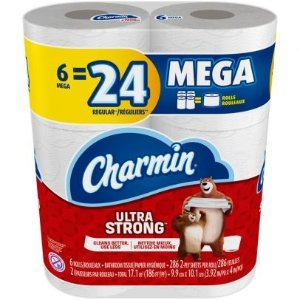 CharminUltra Strong Toilet Paper Mega Rolls - 6 ct