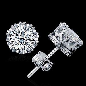 $10.23 可爱减龄Karay 小公主皇冠耳钉特卖 纯银水晶元素
