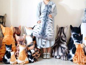 3D 猫咪背影靠枕,小号起