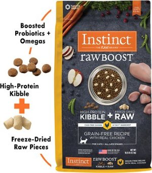 Instinct by Nature's Variety Raw Boost Grain-Free Recipe with Real Chicken Dry Cat Food, 10-lb bag - Chewy.com