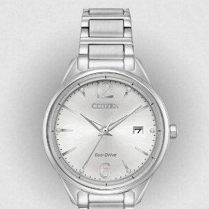 $79.03  官网$350白菜价:Citizen FE6100-59A 施洛华世奇水晶装饰 光动能女士腕表