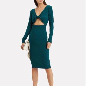 IntermixLeonie Tie Front Dress 修身连衣裙