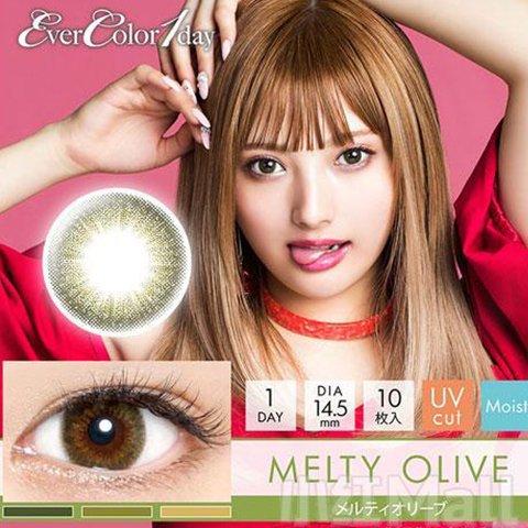 【2%返点】EverColor1day日抛 Melty Olive美瞳10枚