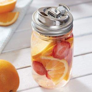 $7.3(原价$18.8)Jarware 82658 不锈钢二合一银色罐盖 适用常规梅森罐