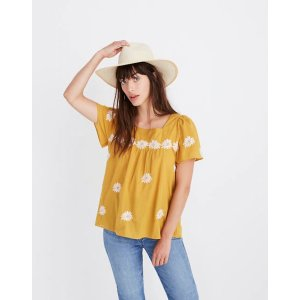 MadewellFloral Embroidered Butterfly Top