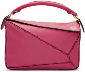 Loewe: Pink Small Puzzle Bag | SSENSE