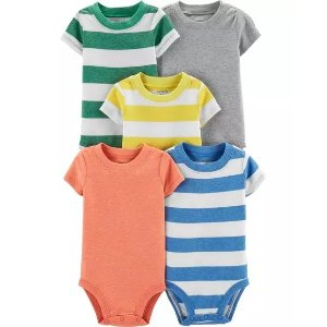 Carter's5-Pack Striped Original Bodysuits