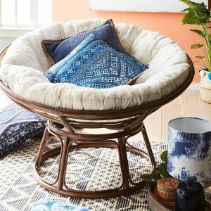 Papasan Chair Frame with Cushion