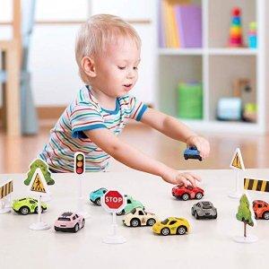 Kilpkonn Race Car Toys Set, Mini Pull Back Toy Cars with Giftbox