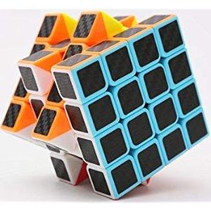 Amazon.com: cfmour Rubiks Cube, Rubix Cube Speed Cube 4x4x4, Smooth Magic Carbon Fiber Sticker Rubix Speed Cubes, Enhanced Version,Black: Toys & Games