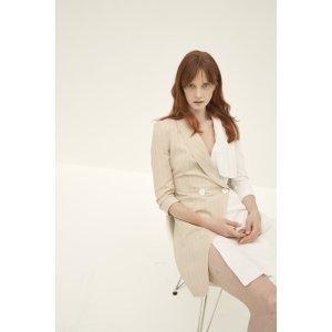 QUAINT ICONIC Meredith Ruffle Shirt Dress