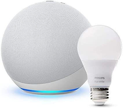 All-new Echo (4th Gen) with Philips Hue Bulb | Glacier White