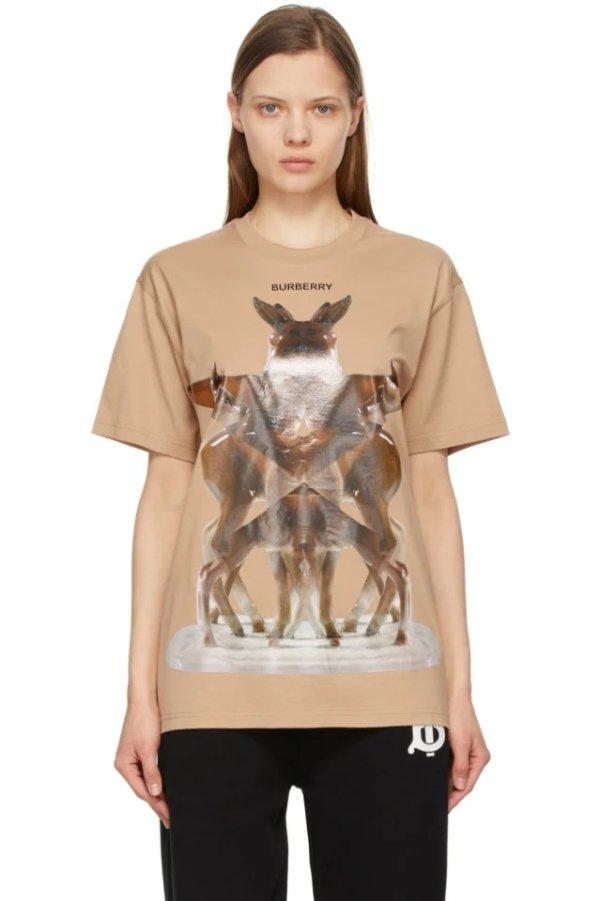 小鹿印花T恤