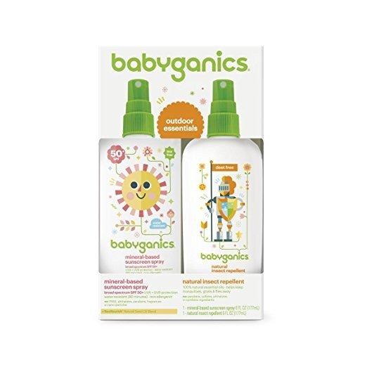 婴儿保湿防晒喷雾大瓶装 6oz+天然防虫喷雾大瓶装 6oz
