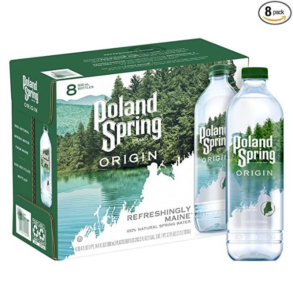 Poland Spring Origin 100%天然泉水 环保瓶 900ml 8瓶