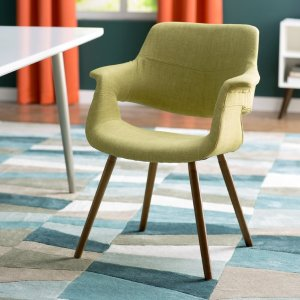 (2) 蘋果綠書桌椅:Langley Street Frederick Arm Chair & Reviews | Wayfair
