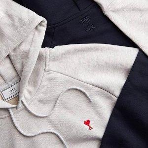 无门槛8.5折AMI 时尚专区 小爱心T恤$75多色可选,条纹衬衫$160