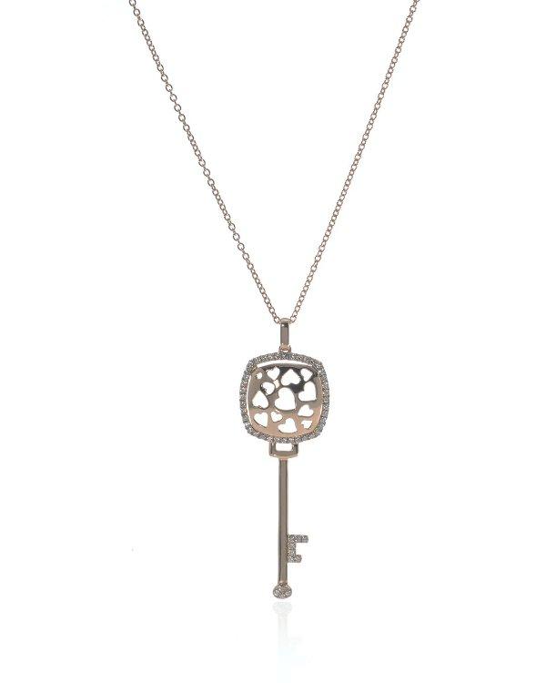 玫瑰金钻石项链