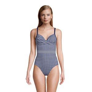 Lands' EndDraper James x Lands' End Women's Tummy Control Wrap One Piece Swimsuit