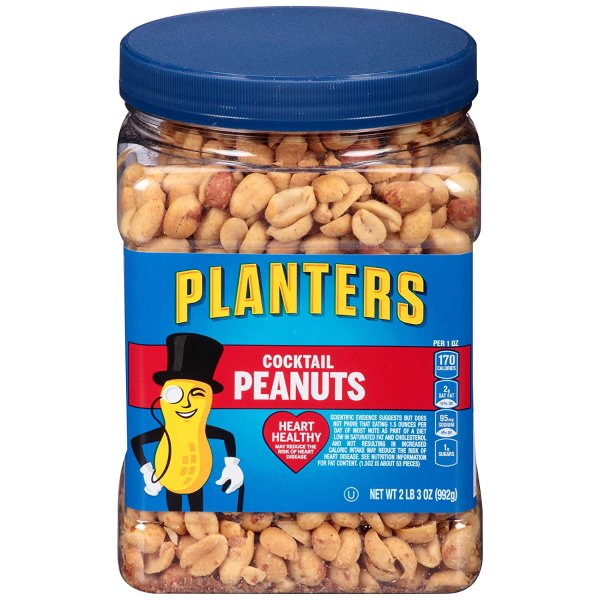 Planters 经典盐焗花生 2磅家庭分享装