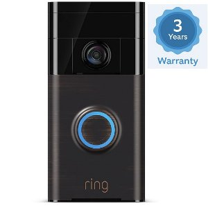 $154Ring Video Doorbell Two-Way Audio, HD Surveillance 3 Year Warranty
